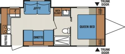 2014 KZ Spree Connect C241RKS floorplan