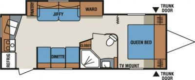 2014 KZ Spree Connect C260RKS floorplan
