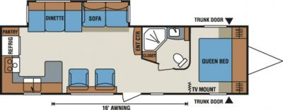 2014 KZ Spree Connect C310RKS floorplan