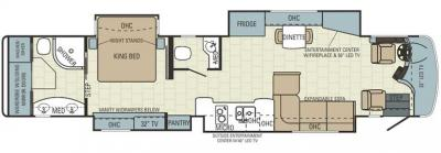 2014 Entegra Cornerstone 45B floorplan