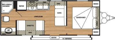 2015 Forest River Salem Cruise Lite 241QB floorplan