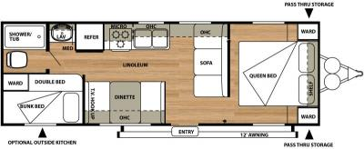 2015 Forest River Salem Cruise Lite 261BH floorplan