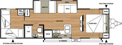 2015 Forest River Salem Cruise Lite 272QB floorplan