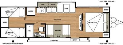 2015 Forest River Salem Cruise Lite 281QB floorplan