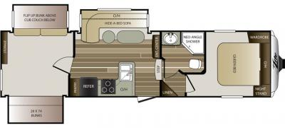 2016 Keystone Cougar XLite 29ROB floorplan