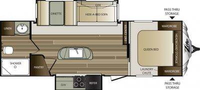2016 Keystone Cougar XLite 26RBI floorplan