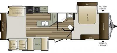 2016 Keystone Cougar XLite 33RES floorplan
