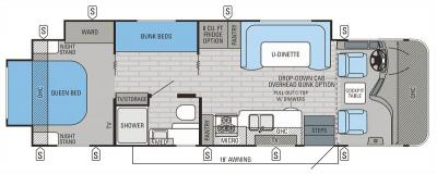 2015 Jayco Precept 29UR floorplan