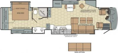 2015 Entegra Anthem 42DEQ floorplan