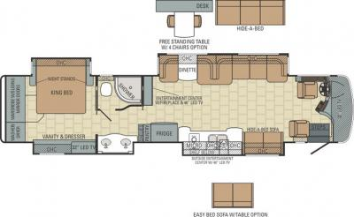 2015 Entegra Anthem 42DLQ floorplan