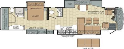 2015 Entegra Anthem 44B floorplan