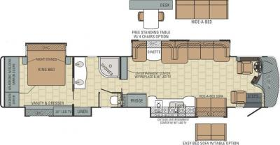 2015 Entegra Anthem 44DLQ floorplan