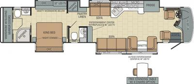 2015 Entegra Anthem 44L floorplan