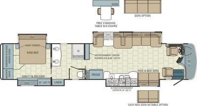2015 Entegra Cornerstone 45J floorplan