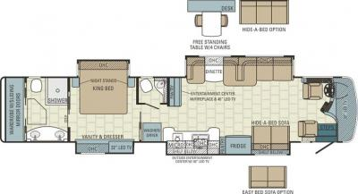 2015 Entegra Cornerstone 45K floorplan