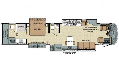 2016 Entegra Cornerstone 45A floorplan