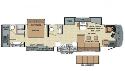 2016 Entegra Cornerstone 45B floorplan