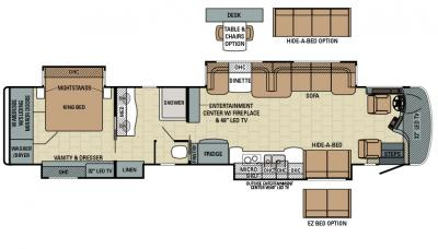 2016 Entegra Cornerstone 45J floorplan
