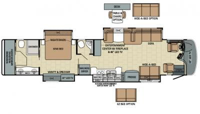 2016 Entegra Cornerstone 45K floorplan