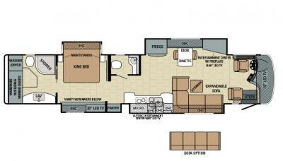 2016 Entegra Anthem 44B floorplan