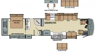 2016 Entegra Anthem 44DLQ floorplan