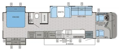 2016 Jayco Precept 35S floorplan