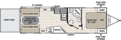 2016 Coachmen Freedom Express Blast 271BL floorplan