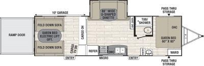 2016 Coachmen Freedom Express Blast 301BLDS floorplan