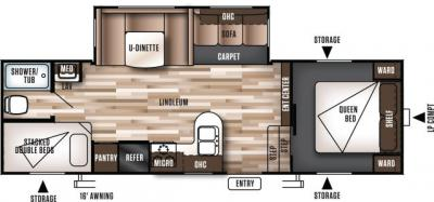 2017 Forest River Wildwood 26DDSS floorplan