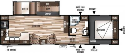 2017 Forest River Wildwood 29RKSS floorplan