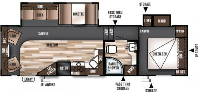 2017 Forest River Wildwood 29RLW floorplan