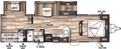 2017 Forest River Wildwood 29QBDS floorplan