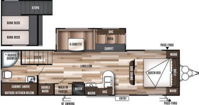 2017 Forest River Wildwood 30LOFTK floorplan