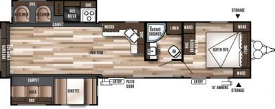 2017 Forest River Wildwood 38RLT floorplan