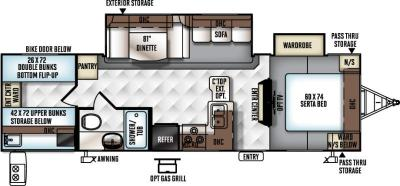 2017 Forest River Flagstaff Super Lite 29FBWS floorplan