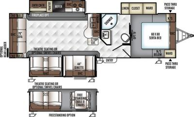 2017 Forest River Flagstaff Super Lite 29KSWS floorplan
