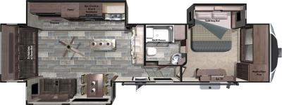 2017 Highland Ridge RV Open Range 3X 3X378RLS floorplan