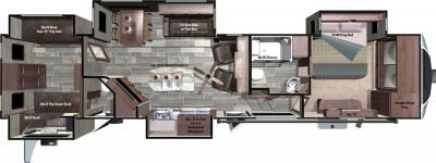 2017 Highland Ridge RV Open Range 3X 3X427BHS floorplan
