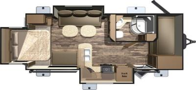 2017 Highland Ridge RV Light LT221RQB floorplan