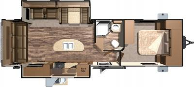2017 Highland Ridge RV Light LT272RLS floorplan