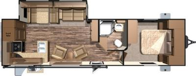 2017 Highland Ridge RV Light LT282RKS floorplan