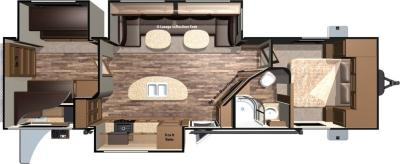 2017 Highland Ridge RV Light LT308BHS floorplan