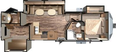 2017 Highland Ridge RV Light LF315BHS floorplan