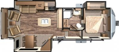 2017 Highland Ridge RV Light LF318RLS floorplan