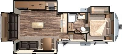 2017 Highland Ridge RV Light LF319RLS floorplan