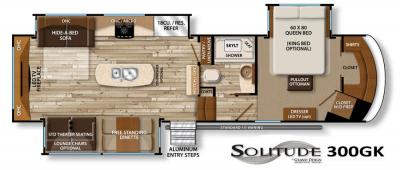 2017 Grand Design Solitude 300GK floorplan