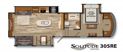 2017 Grand Design Solitude 305RE floorplan