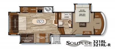 2017 Grand Design Solitude 321RL floorplan