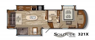 2017 Grand Design Solitude 321X floorplan