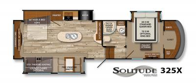 2017 Grand Design Solitude 325X floorplan
